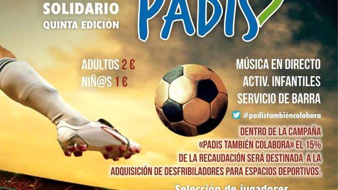 El Vº Partido de Fútbol Solidario con PADIS ya tiene fecha: próximo (08/04/18)