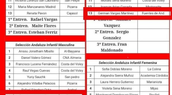 5 deportistas fontaniegos del C.V. Fuentes  representarán a Andalucía en el campeonato de España de selecciones autonómicas