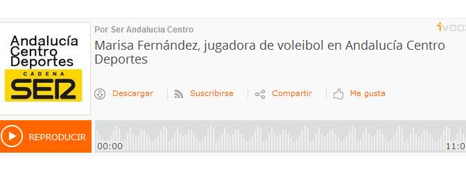Entrevista a Marisa Fernández en la Cadena SER (audio)