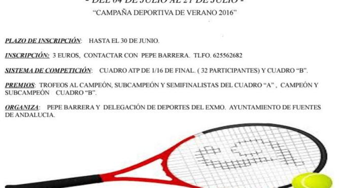 XXIVº Torneo Individual de Tenis (categoría absoluta) ¡INSCRÍBETE!
