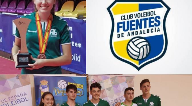 Nuestros jóvenes deportistas regresan de sus participaciones en el campeonato de España de Voleibol