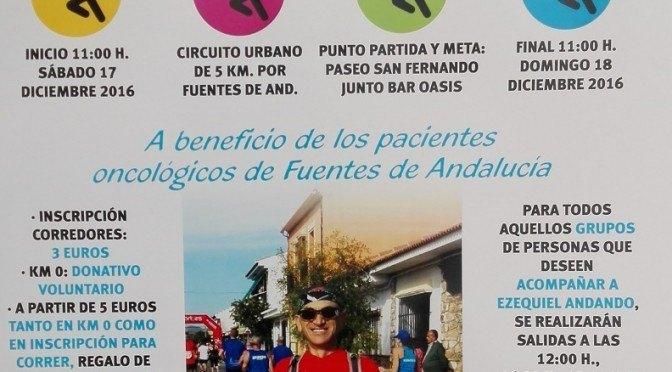 Ezequiel Ruano volverá a correr 24 horas a beneficio de los pacientes oncológicos de Fuentes de Andalucía
