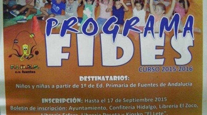 Programa FIDES: «Formación integral, deporte, educación y salud»