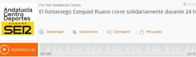 (audio) Ezequiel Ruano es entrevistado por la Cadena Ser