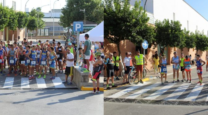 La primera Duatlón Fuentes de Andalucía supera la centena de participantes