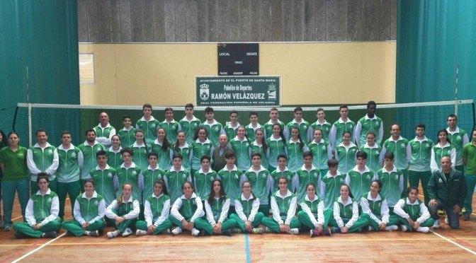Cuatro jugadores fontaniegos representarán a Andalucía en el Campeonato de España de Voleibol
