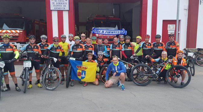 23 ciclistas fontaniegos realizan el reto Fuentes de Andalucía-Ronda