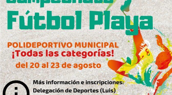 Campeonato de Fútbol Playa, del 20 al 23 de agosto ¡participa!