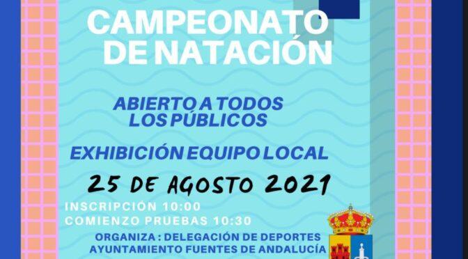 ¡APÚNTATE! campeonato de natación, PRÓXIMO 25/08/21