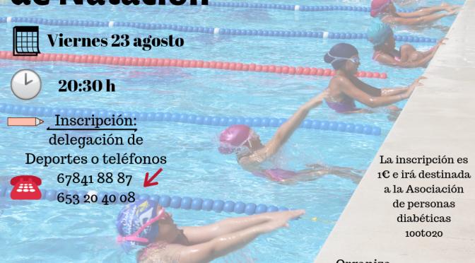 Jornadas de Natación, próximo 23 de agosto ¡apúntate!