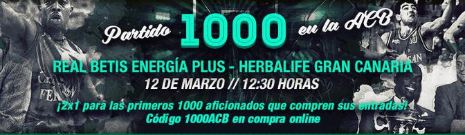 Salida para ver el Real Betis Energía Plus Vs. Herbalife Gran Canaria, próximo domingo (12/03/17)