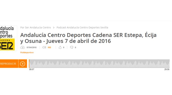 (audio) Entrevista a Antonio Gamero en la Cadena SER por el IIº Raid Hípico Mª Auxiliadora