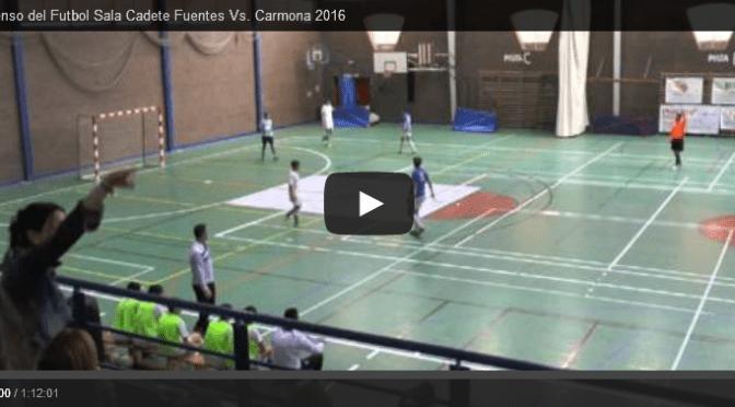 (vídeo) Partido de ascenso del Fuentes Fútbol Sala Cadete Vs. Carmona 2016
