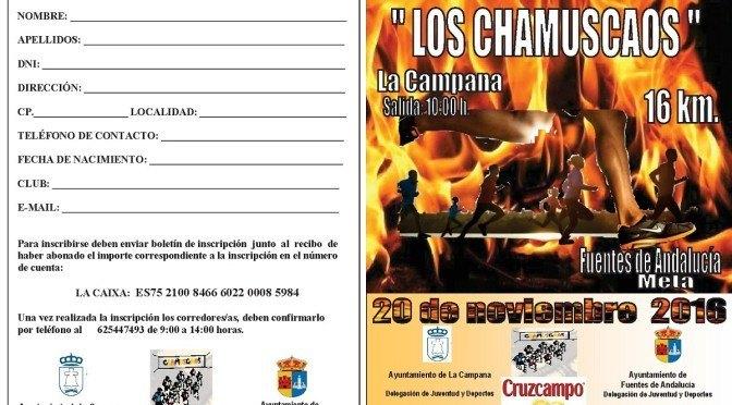 XXIº Carrera Popular 'Los Chamuscaos' (boletín de inscripción)