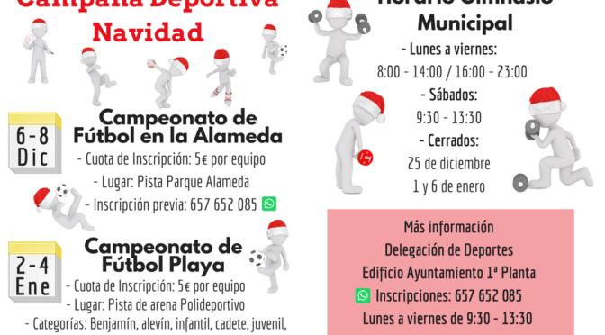 Campaña Deportiva de Navidad en Fuentes de Andalucía