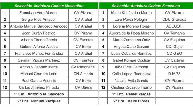 Convocados dos jugadores del C.V. Fuentes para formar parte de la Seleccion Andaluza que participará en el Campeonato de Andalucía Selecciones Provinciales Juveniles